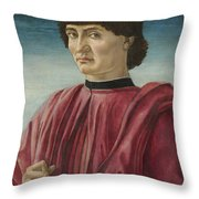 Italian Renaissance Portrait Painter Throw Pillow