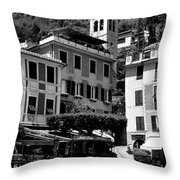 Italian Riviera Throw Pillow by Corinne Rhode