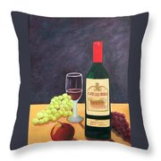 Italian Wine And Fruit Throw Pillow