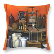 Italian Wine Press Throw Pillow