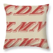 Italic Shaded  Throw Pillow