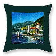 Italy - Lake Como - Villa Balbianello Throw Pillow