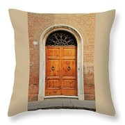 Italy - Door Fifteen Throw Pillow
