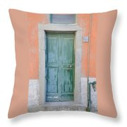 Italy - Door Five Throw Pillow