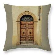 Italy - Door One Throw Pillow