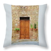 Italy - Door Six Throw Pillow