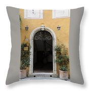 Italy - Door Thirteen Throw Pillow
