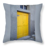 Italy - Door Three Throw Pillow
