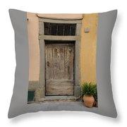 Italy - Door Twenty Three Throw Pillow