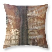 Italy, Florence, Duomo And Campanile Throw Pillow