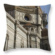Italy, Florence, Facade Of Duomo Santa Throw Pillow