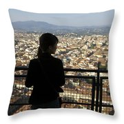 Italy, Florence, Tourist Looks Throw Pillow