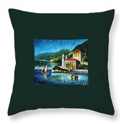 Italy  Lake Como  Villa Balbianello Throw Pillow