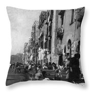 Italy: Naples, C1904 Throw Pillow