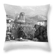 Italy: Tivoli, 1832 Throw Pillow