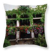 Italy Veneto Marostica Main Square Throw Pillow