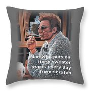 Itchy Sweater Throw Pillow