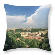Iter Romam Via Ianiculum Throw Pillow