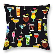 Its 5  Oclock Somewhere Cocktails Throw Pillow