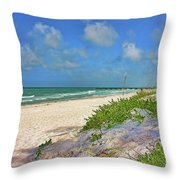 It's A Beach Kind Of Morning Throw Pillow