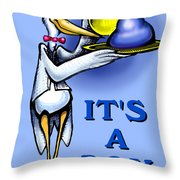 It's A Boy Throw Pillow