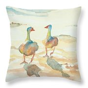 It's A Ducky Day Throw Pillow