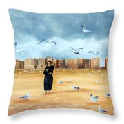 It's A Lonely City Throw Pillow