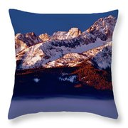 Its A New Day First Light Sawtooth Range Throw Pillow