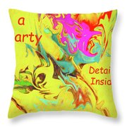 It's A Party Abstract Throw Pillow