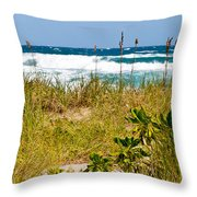 Its A Shore Bet Throw Pillow by Michelle Wiarda