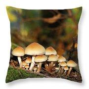 It's A Small World Mushrooms Throw Pillow