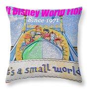 It's A Small World Poster Art Throw Pillow