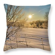 It's A Warm Cold... Throw Pillow