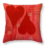 Its All About Love Throw Pillow