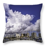 It's All About The Clouds Throw Pillow