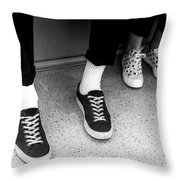 It's All Black And White Throw Pillow