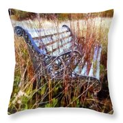 It's Been Awhile - Park Bench Throw Pillow