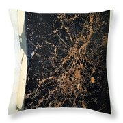 it's Black and Gold man Throw Pillow