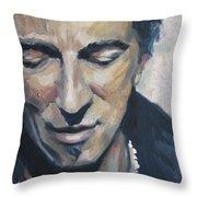It's Boss Time II - Bruce Springsteen Portrait Throw Pillow