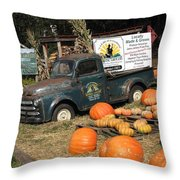 It's Fall At Sunrise Grocery Throw Pillow