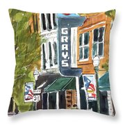Its Friday In Franklin Throw Pillow