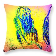 it's late autumn and I'm going  Throw Pillow