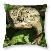 It's Lonely Being Green Throw Pillow