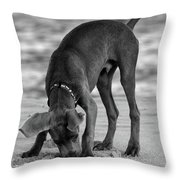 Its My Clam Throw Pillow by Angie Tirado