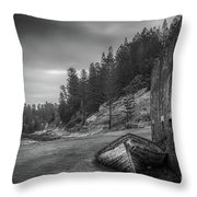 It's Over B/w Throw Pillow