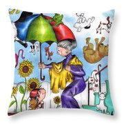 It's Raining... Throw Pillow