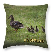 Its Spring Throw Pillow