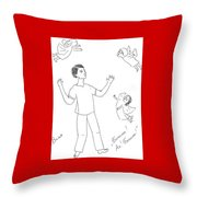 Ivan And A Goddesses. Throw Pillow