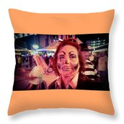 Zombie On Patrol Throw Pillow