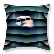 I've Seen That Face Before Throw Pillow